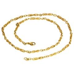 Vintage Twisted 9 Carat Gold Necklace