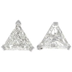 Vintage Two Carat Diamond Stud Earrings