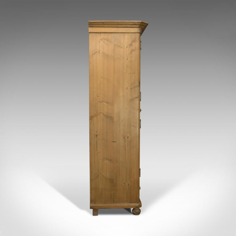 French Provincial Vintage Two-Door Bookcase, Cabinet, French, Pine, Mid-20th Century, circa 1960 For Sale