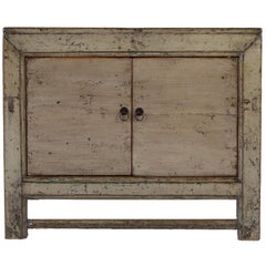Vintage Two-Door Lacquered Patina Cabinet