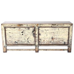 Vintage Two-Door Server in Original Paint Patina with Lacquer over Glaze