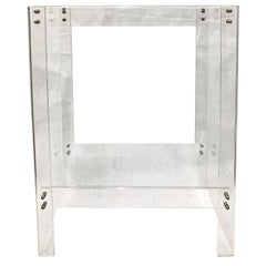 Vintage Two-Tiered Lucite Console Table