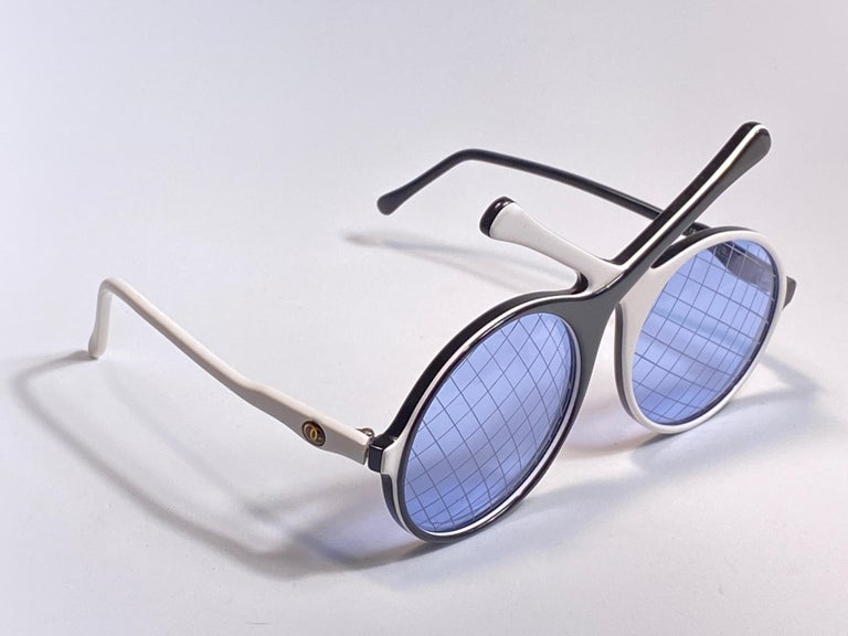 Purple Vintage Ultra Rare Oliver Goldsmith Tennis Racquets 1985 England Sunglasses For Sale