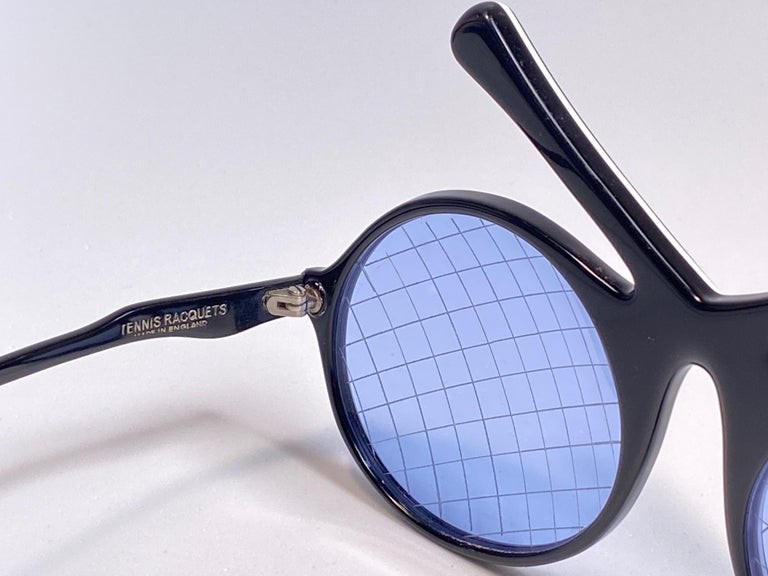Women's Vintage Ultra Rare Oliver Goldsmith Tennis Racquets 1985 England Sunglasses For Sale