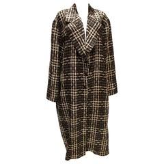 Vintage Umberto Ginnocchetti Black and White Wool Coat
