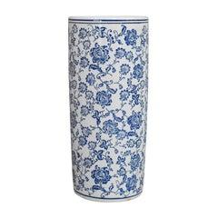 Vintage Umbrella Pot, Asian, Ceramic, Hallway, Stick Stand, Vase, 20th Century