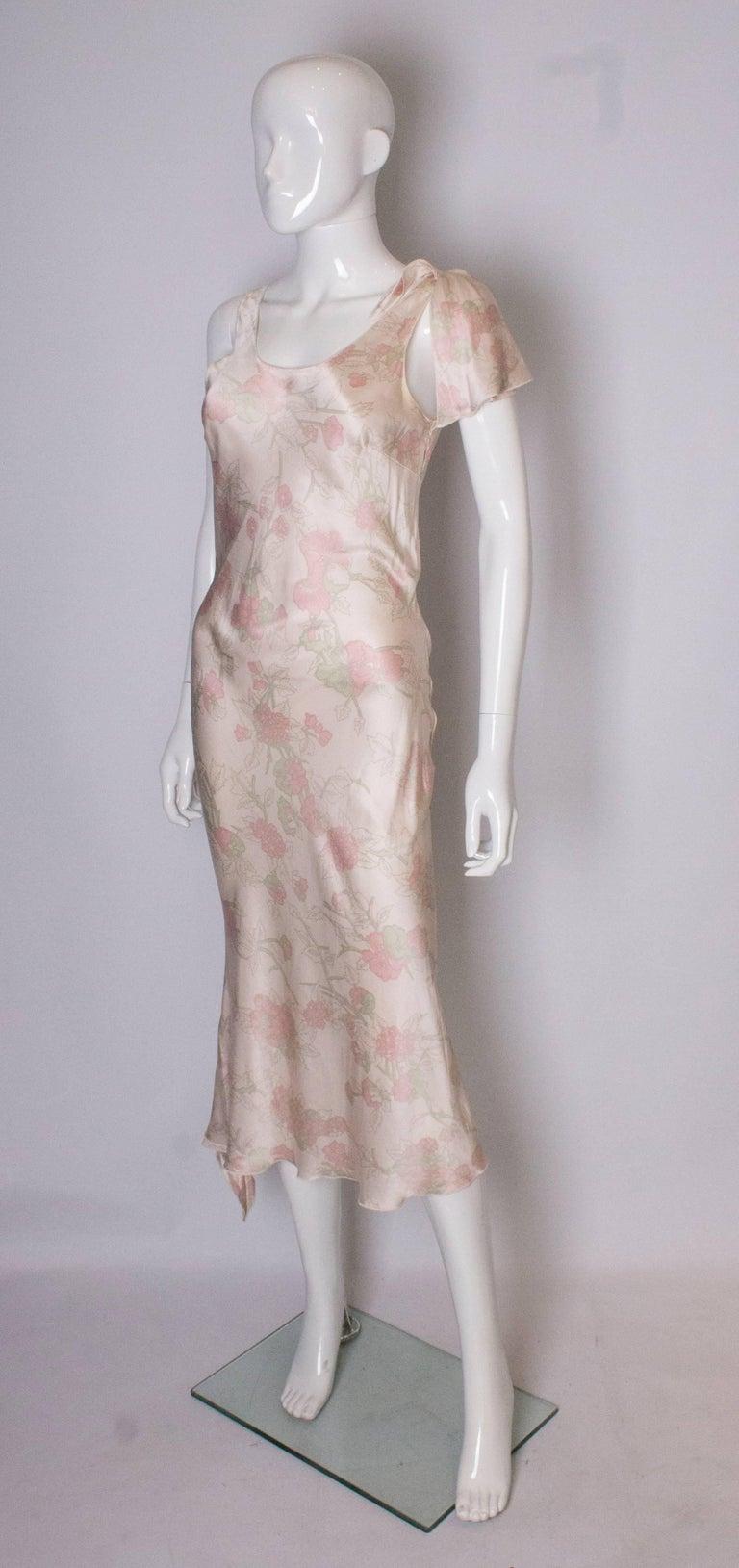 Beige Vintage Ungaro Silk Slip Dress or Nightdress For Sale