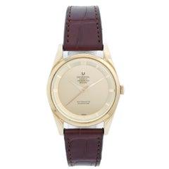 Vintage Universal Geneve Polerouter 18 Karat Yellow Gold Men's Watch