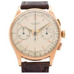 Vintage Universal Geneve Uni-Compax 18 Karat Rose Gold Watch, 1952