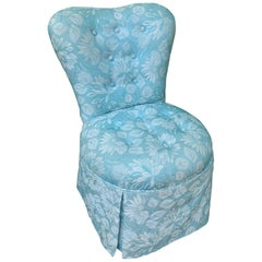 Vintage Upholstered Vanity Stool