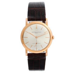 Vintage Vacheron Constantin 18 Karat Rose Gold Men's Watch
