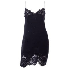 Vintage Valentino 1997 Spring Summer Runway Silk & Lace Slip Dress