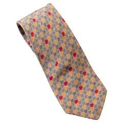 Vintage Valentino all-silk grey tie