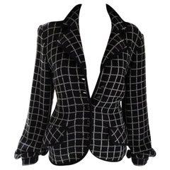 Vintage Valentino Black & White Bijoux Crystal Cardigan Jacket IT 40/ US 4 6