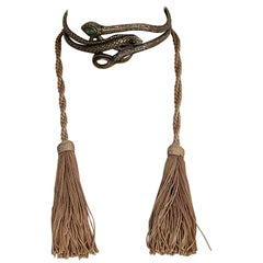 Vintage VALENTINO GARAVANI Snake Tassel Choker Necklace