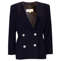 Vintage Valentino Navy Blue Jacket