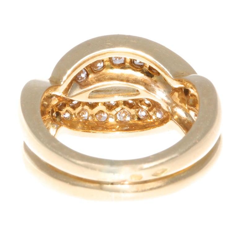 Vintage Van Cleef & Arpels Diamond 18 Karat Gold Ring In Good Condition For Sale In Beverly Hills, CA