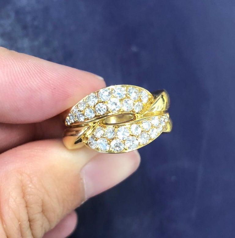 Vintage Van Cleef & Arpels Diamond 18 Karat Gold Ring For Sale 1
