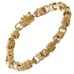 Vintage Van Cleef & Arpels 14 Karat Yellow Gold Bracelet