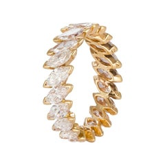 Vintage Van Cleef & Arpels 18 Karat Yellow Gold and Diamond Eternity Ring VCA
