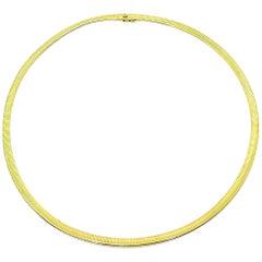 Vintage Van Cleef & Arpels 18 Karat Yellow Gold Snake Necklace