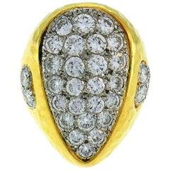 Vintage Van Cleef & Arpels Diamond 18k Yellow Gold Ring