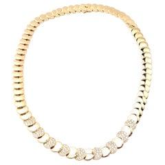 Vintage Van Cleef & Arpels Diamond and Yellow Gold Discs Necklace
