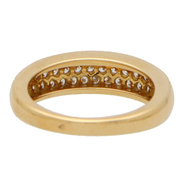 Retro Vintage Van Cleef & Arpels Diamond Band Ring Set in 18k Yellow Gold
