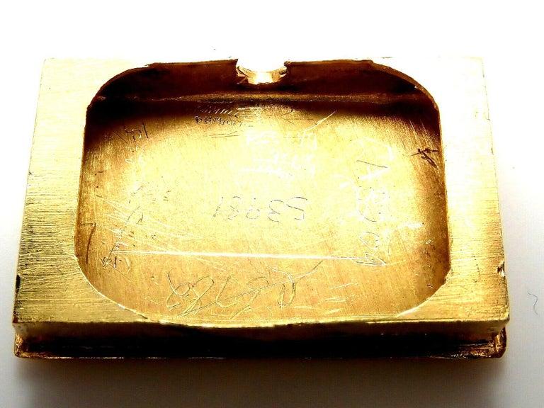 Vintage Van Cleef & Arpels Diamond Ludo Hexagone Buckle Yellow Gold Wristwatch For Sale 7
