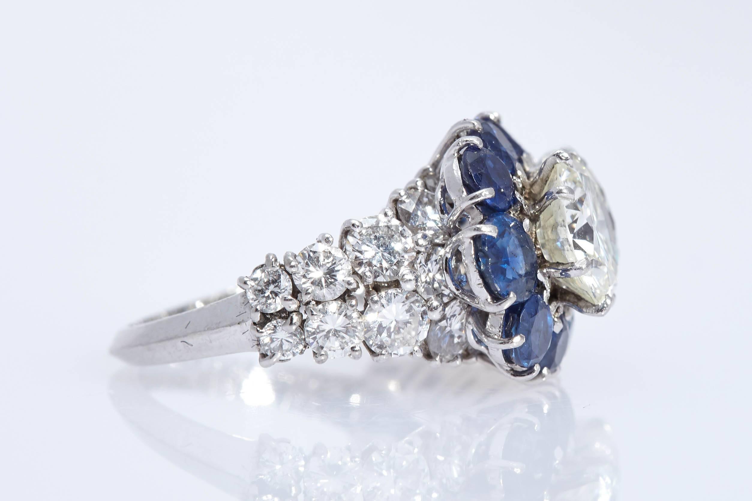 Van Cleef and Arpels Old Europrean Cut Two Diamond Ring 18K