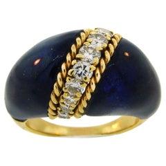 Vintage Van Cleef & Arpels Lapis Lazuli 18k Gold Ring