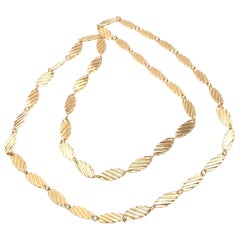 Vintage Van Cleef & Arpels Long Yellow Gold Link Necklace