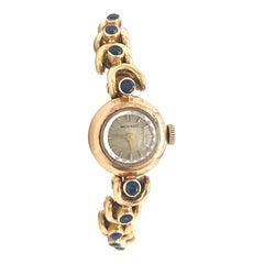 Vintage Van Cleef & Arpels Movado Sapphire 18 Karat Gold Watch