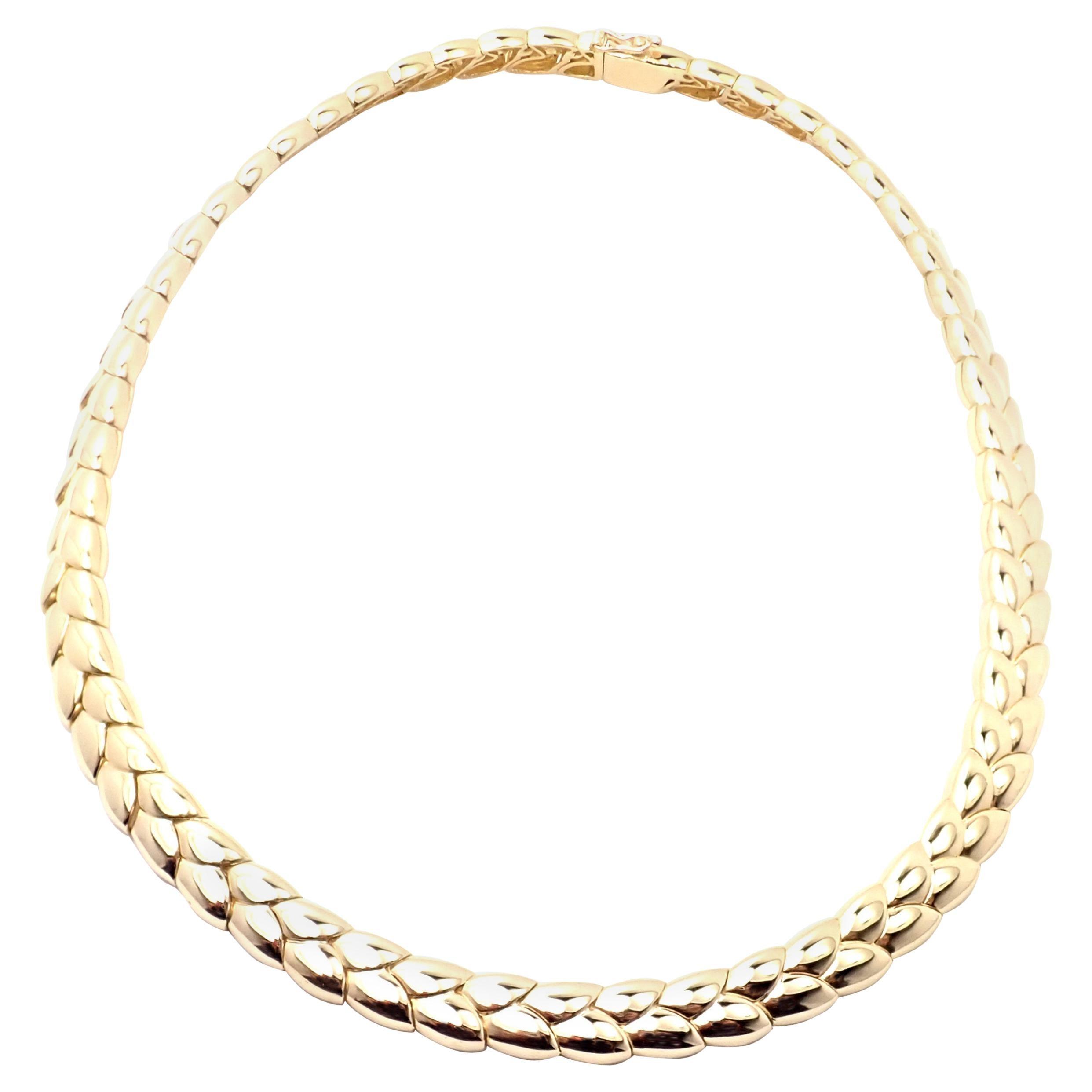 Vintage Van Cleef & Arpels Yellow Gold Choker Necklace