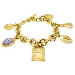 Vintage Vanderbilt Gold Parfum Charm Bracelet 1990S
