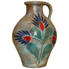Vintage Vase Enameled, France, 1970s