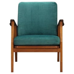 Vintage Velour Green Armchair 1960s Classic