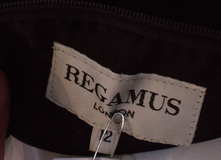 Vintage Velvet and Silk Gown by Regamus London For Sale 4