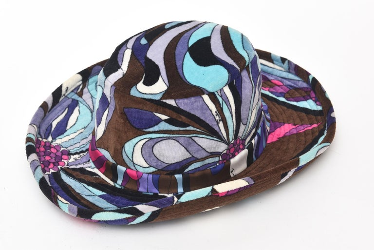 Black  Emilio Pucci Velvet Hat Vintage For Sale
