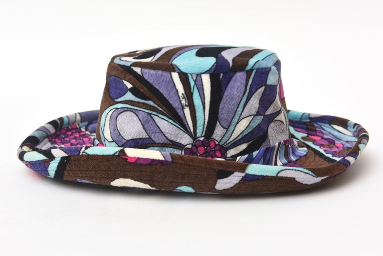 Women's  Emilio Pucci Velvet Hat Vintage For Sale