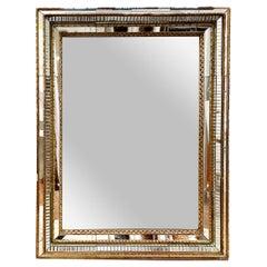 Vintage Venetian Glass Mirror with Original Mirror in Frame