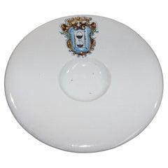 Vintage Talavera Large Stoneware White Bowl Spain