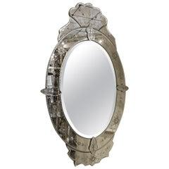 Vintage Venetian Mirror, circa 1920s-1940s France