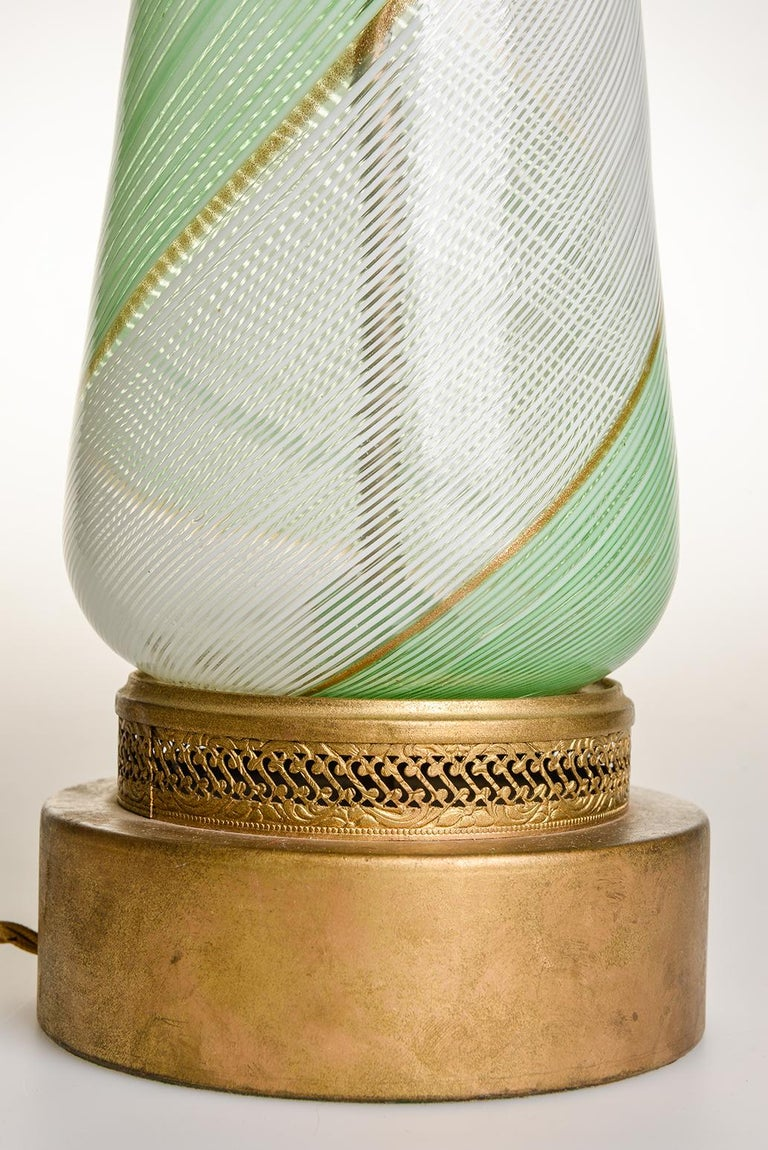 Italian  Venetian Murano Glass Vintage Table Lamp, 1950s For Sale