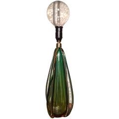Vintage Venetian Murano Handblown Glass Table Lamp