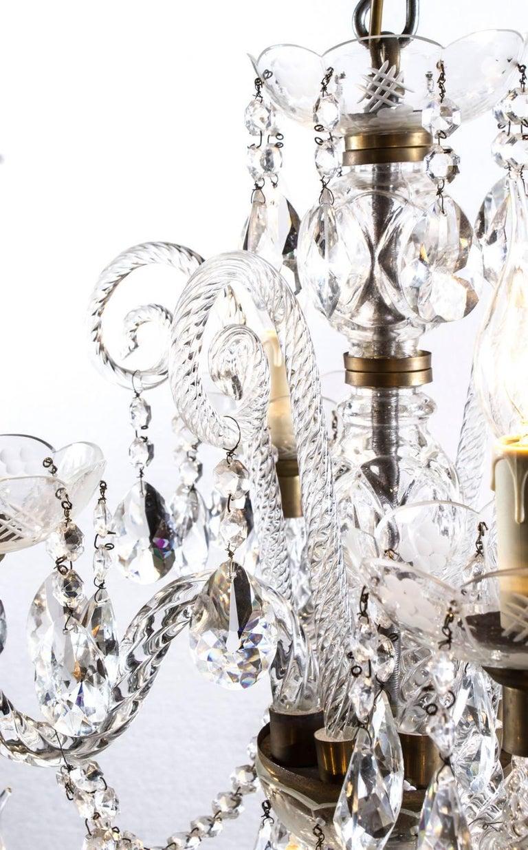 Vintage Venetian Two-Tier 12-Light Crystal Chandelier For Sale 5