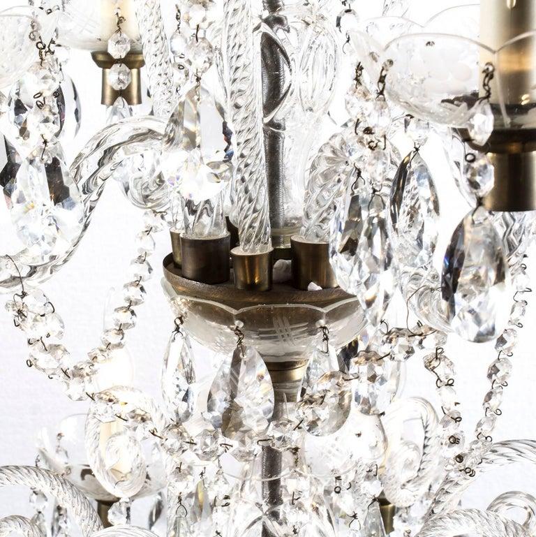 Vintage Venetian Two-Tier 12-Light Crystal Chandelier For Sale 6