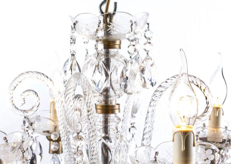 Vintage Venetian Two-Tier 12-Light Crystal Chandelier For Sale 2