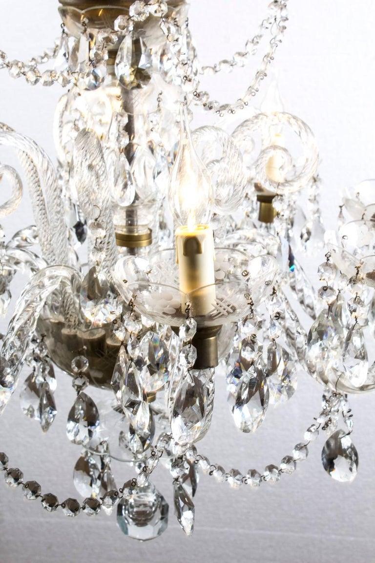 Vintage Venetian Two-Tier 12-Light Crystal Chandelier For Sale 3