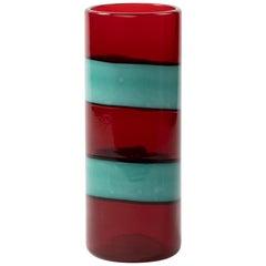 "Vintage Venini Murano Fulvio Bianconi ""A fasce Orizzontali"" Blown Glass Vase"